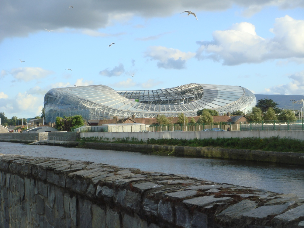 Aviva Stadium in Dublin, the capital of Ireland.