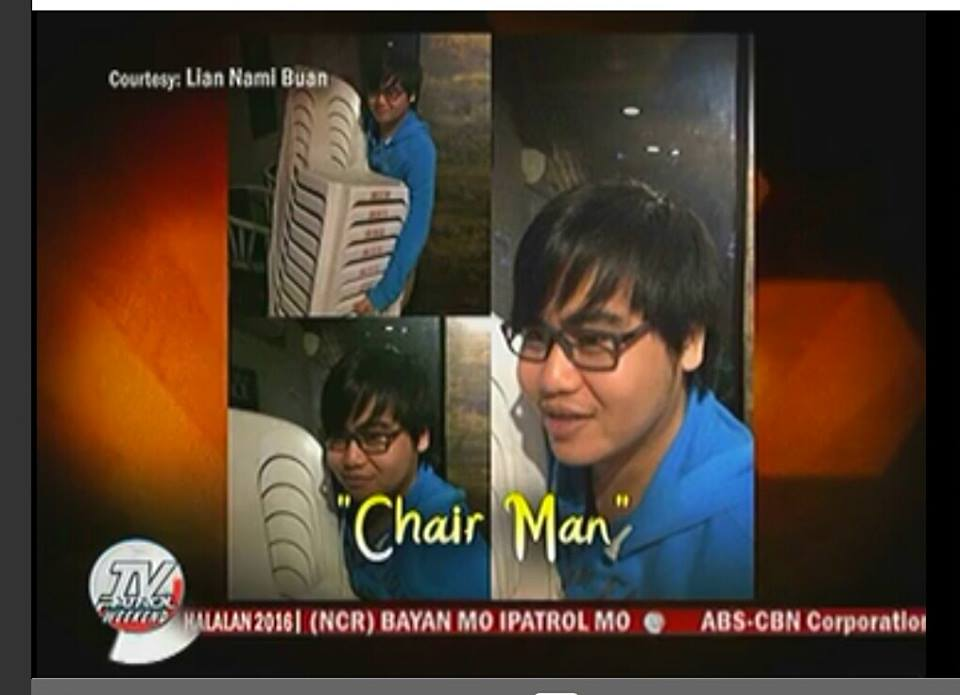 The same #ChairMan meme on TV Patrol.