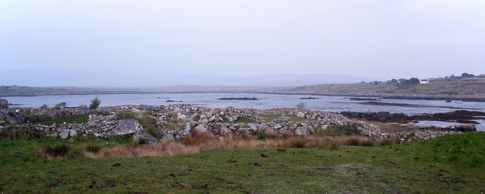 "Muckanaghederdauhaulia in County Galway, Ireland. Many believe it is the longest name of a place in Ireland. It means ""ridge, shaped like a pig's back, between two expanses of briny water."" Photo by O'Dea."