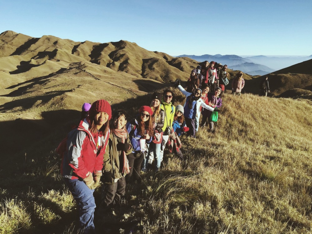 The entire Travel Factor group in Mount Pulag.