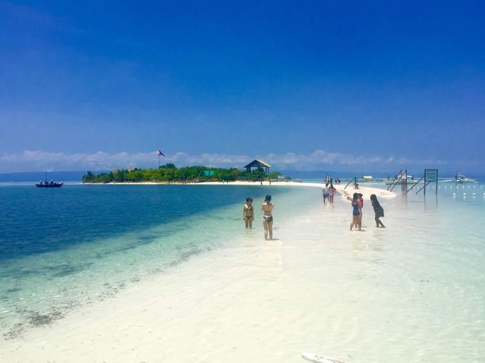 The sandbar of Virgin Island