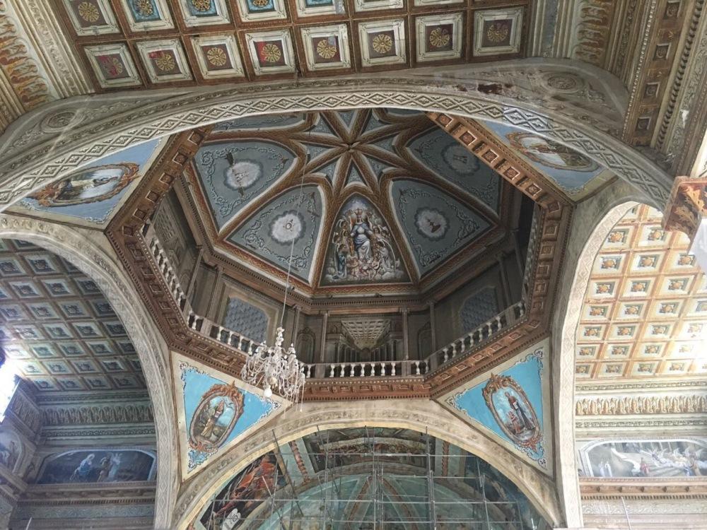The ceiling of Dauis Church.