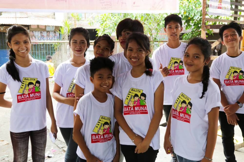 bata muna filipino children election 2016