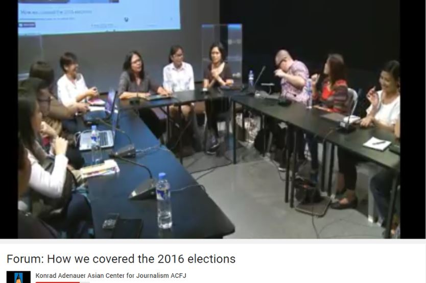 The forum was livestreamed to fellow alumni of the Ateneo's Asian Center for Journalism.