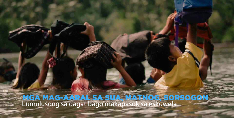 Mga mag-aaral ng Sua National High School sa Sorsogon.