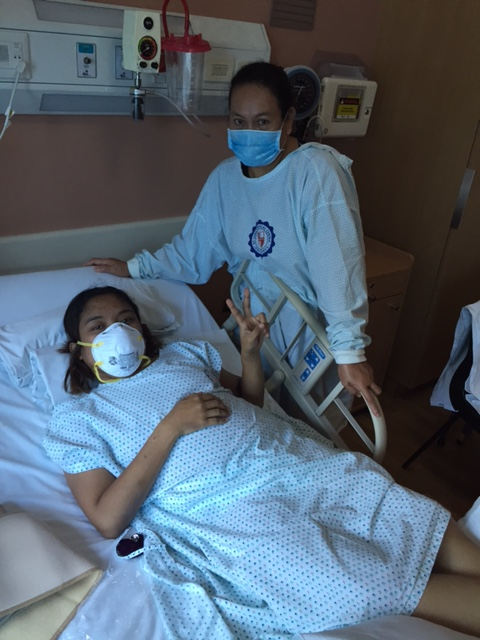 June 5, 2016 Discharge day. I was in reverse isolation. Even my Mamang had to wear mask, booties, and hospital gown. Di pwede ang labas-pasok sa room. Only on duty nurses ( in complete get up) are allowed.