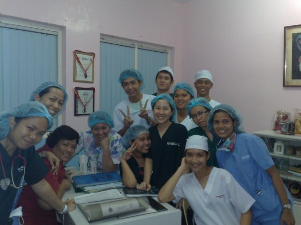 With the UP PGH Burn Unit nursing staff after clinical duties, 2009.