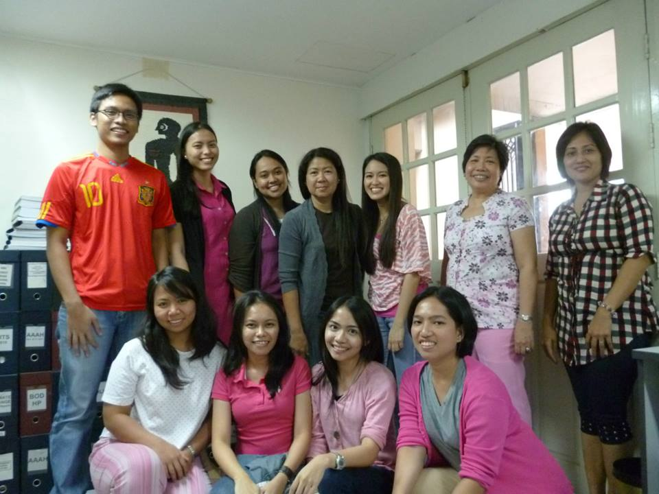 With the Health Policy Project Group, UP Manila National Institutes of Health (NIH) in 2013.