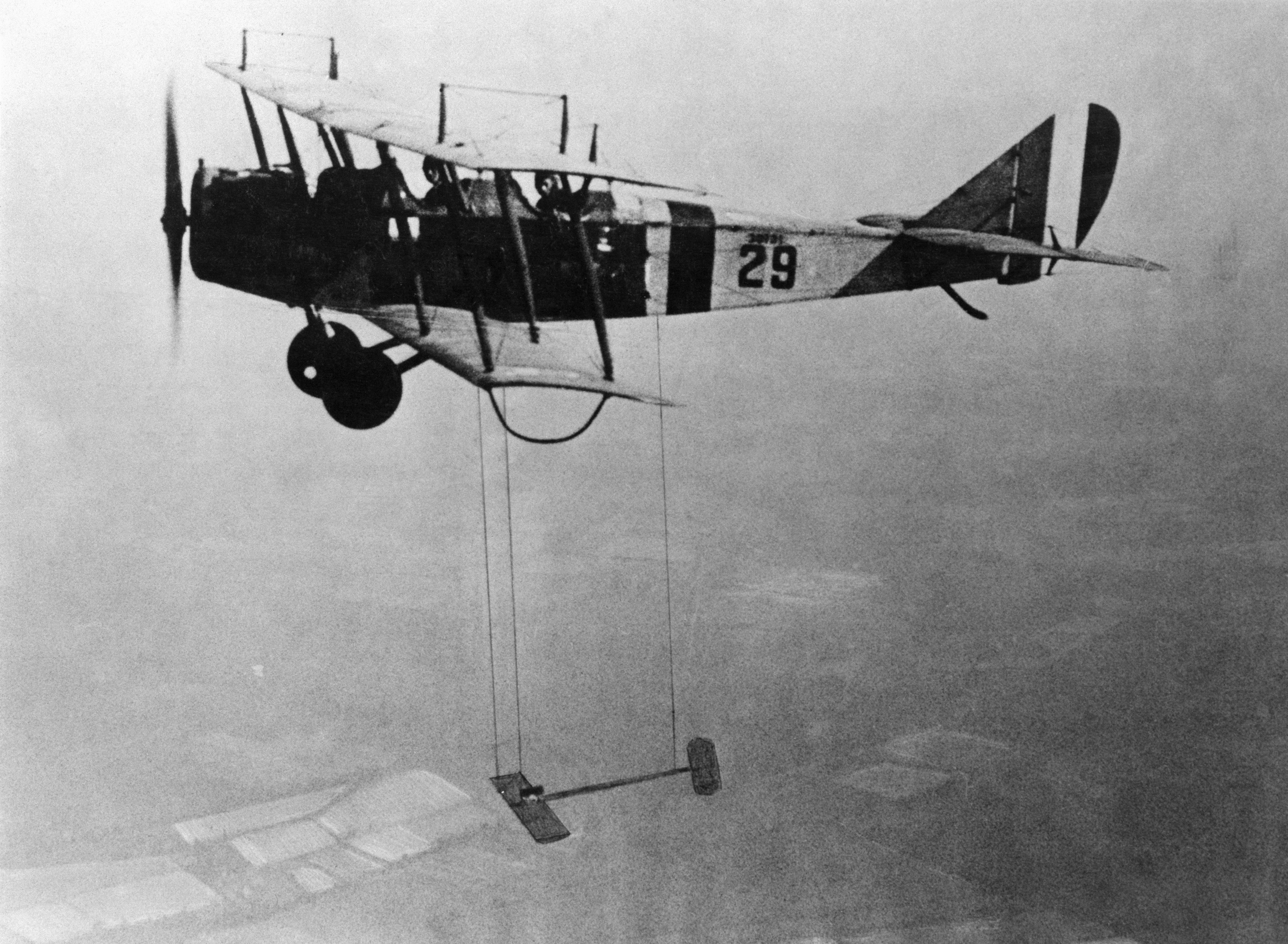 Curtiss JN-4 Jenny Aircraft With Model Wing Suspended