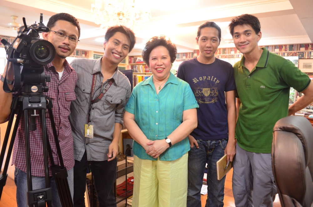 She showed us her real library. And it seems like a piece of UP Diliman is inside her home.