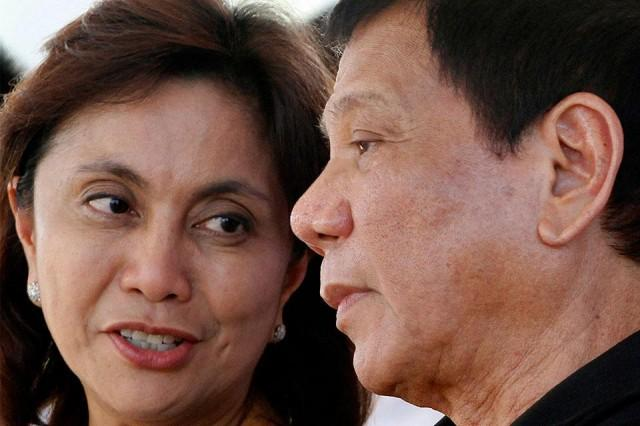 Vice President Leni Robredo and President Rodrigo Duterte. Photo: GMA News.