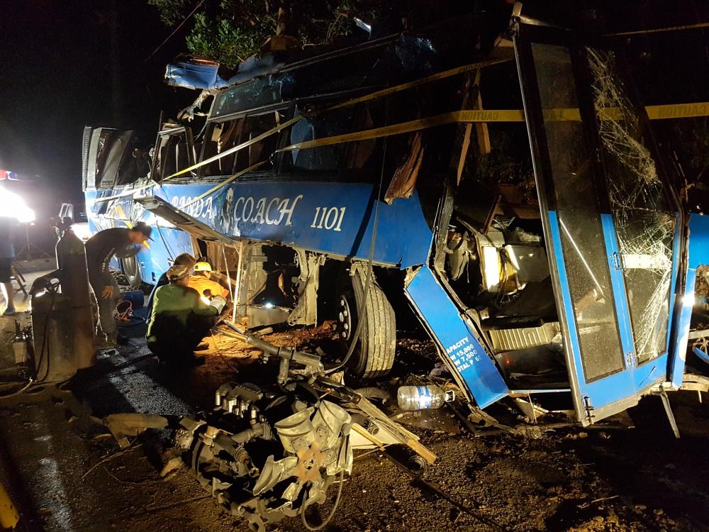 Overnight wreckage.