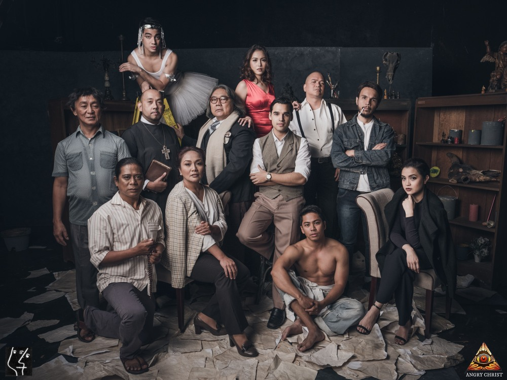 The Cast of Angry Christ, a production of the UP Playwrights' Theatre and Dulaang UP.