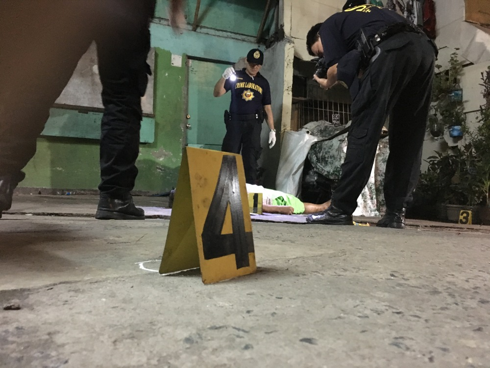 June 27, 2017. Agustin Panes was murdered by unidentified suspects in front of an unmanned barangay outpost in Barangay Addition Hills, Mandaluyong. Photo: Bam Alegre.