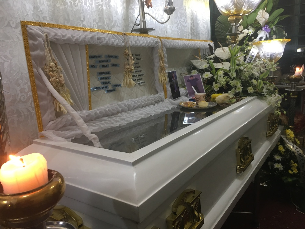 The wake for Carl Angelo Arnaiz. He was buried last September 5, 2017.