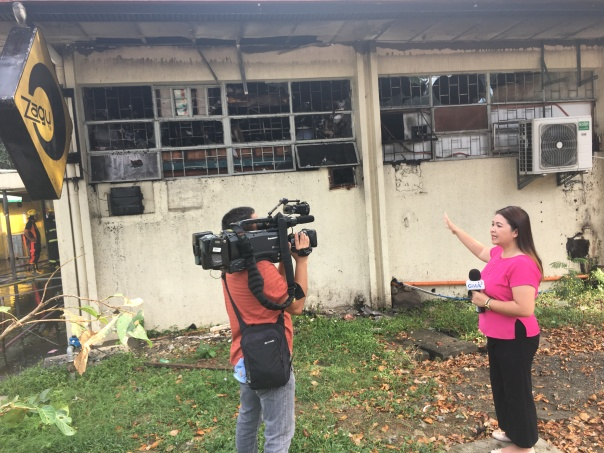 GMA News Reporter Bernadette Reyes.