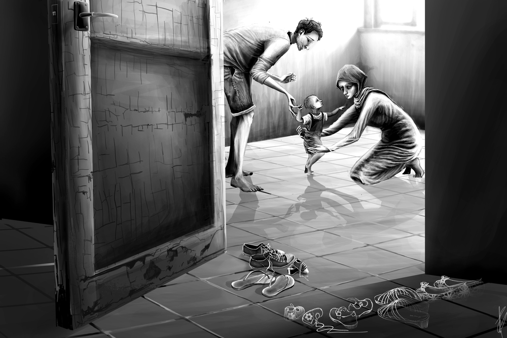 Shatila Camp Illustrations