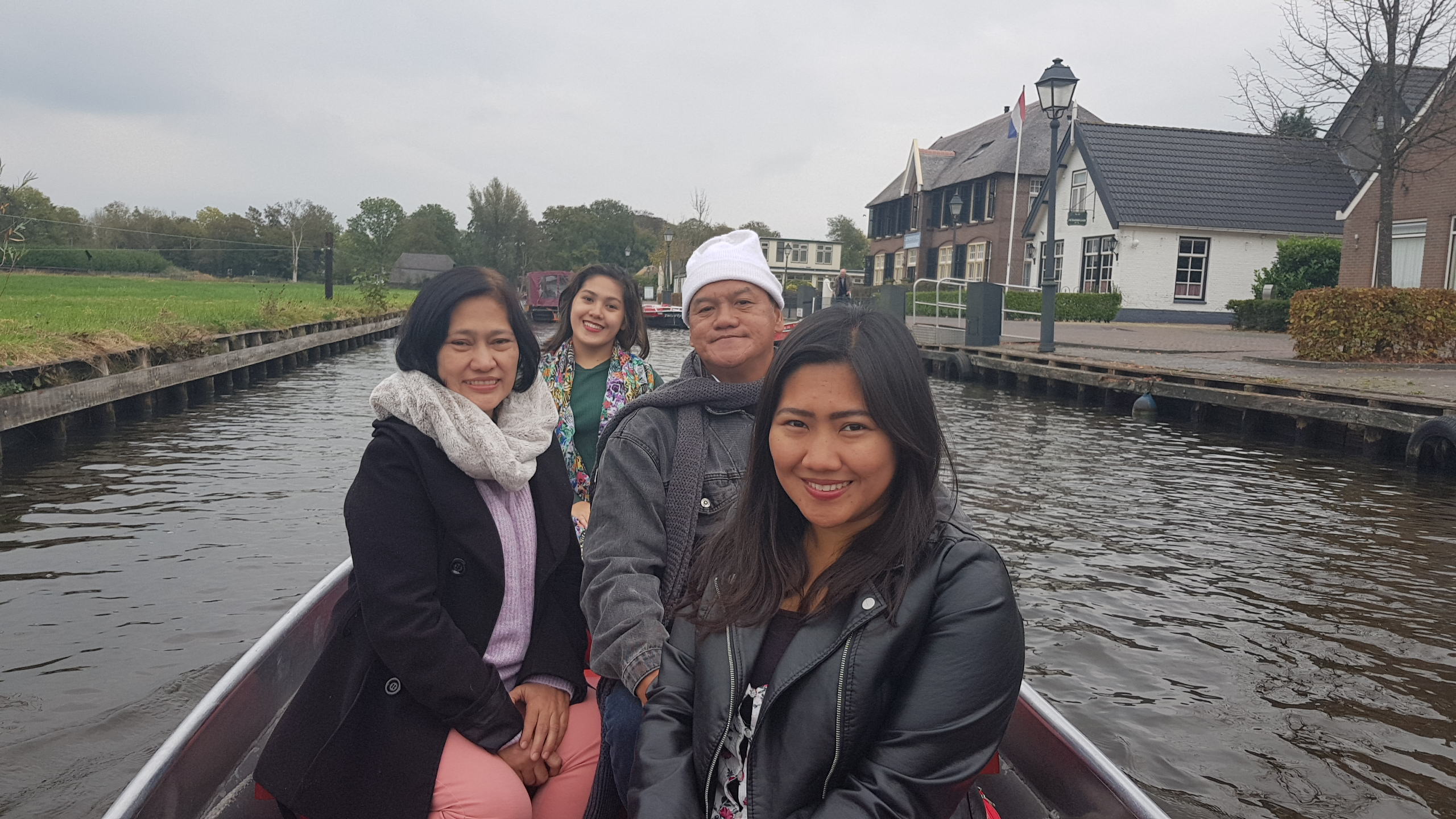 We rented our own boat to explore the canals of Giethoorn.