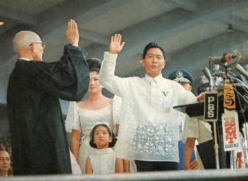 Ferdinand Marcos Oathtaking 1969