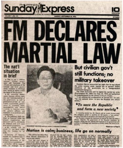 Martial Law Announcement