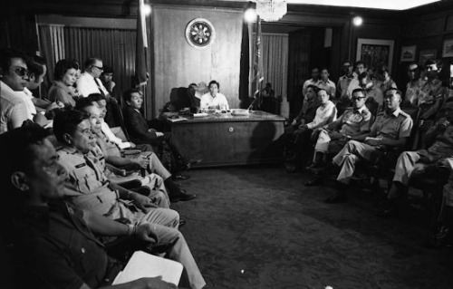 Marcos Meeting with Military 1972