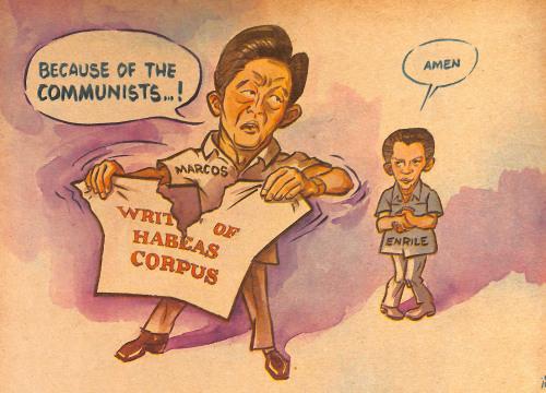 Plaza Miranda Bombing Editorial Cartoon