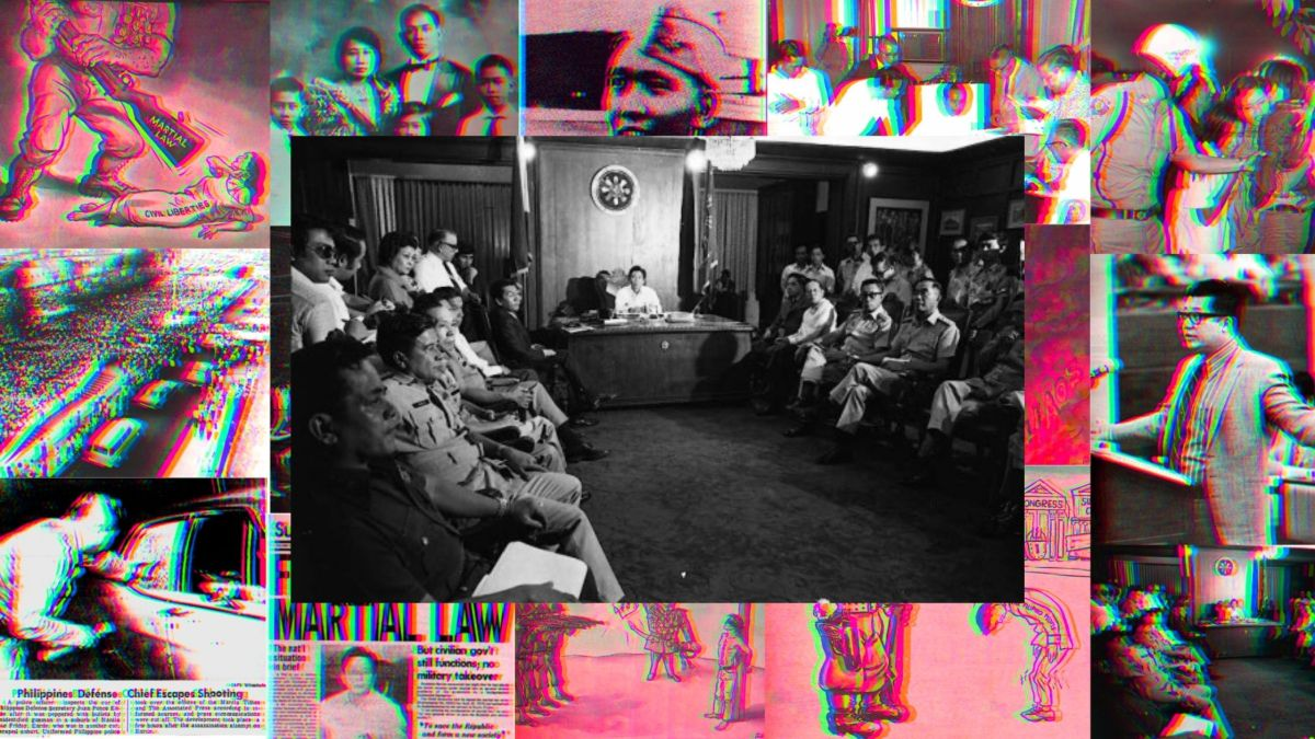 Ferdinand Marcos Meeting with Military