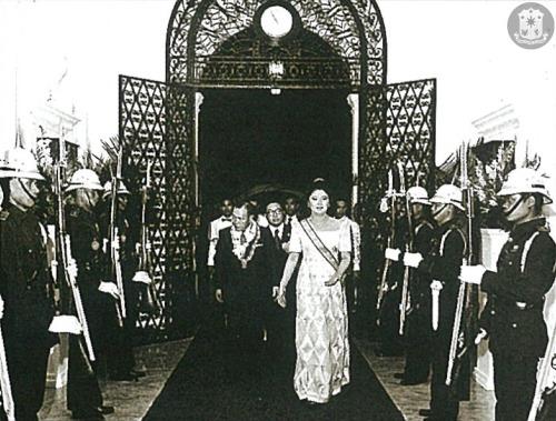 Imelda Marcos with Kakuei Tanaka