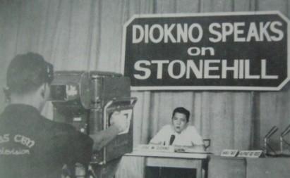 "Jose ""Pepe"" Diokno revealing Stonehill exposé"